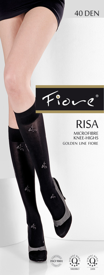 Risa Patterned Knee-Highs