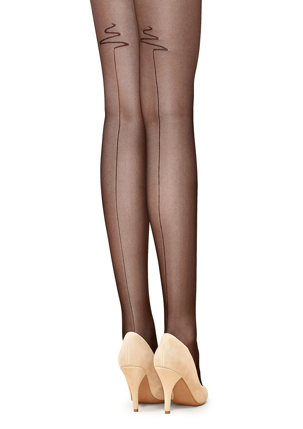 Flores Back-Seam Tulle Pantyhose
